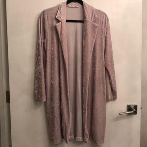 Audrey 3+1 velvet duster jacket